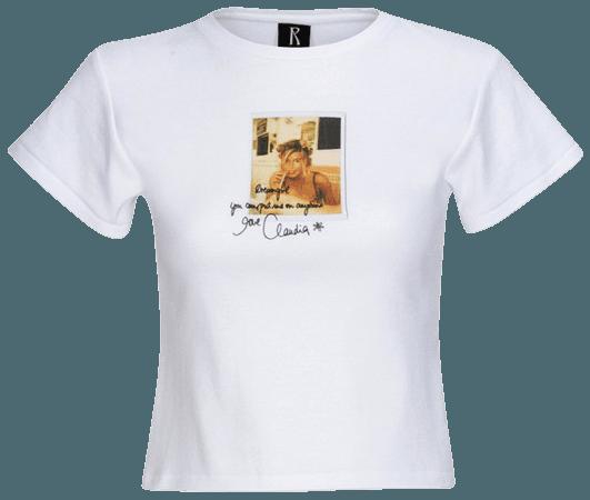 The Milkshake Tee White   SUPER RÉAL: Claudia Schiffer   Réalisation