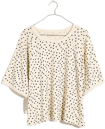 Waffle Knit Pajama Tee in Tossed Dot