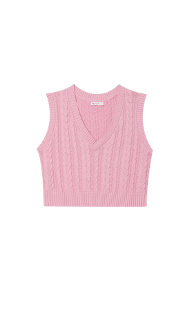 Cable-knit vest - Women's Just in | Stradivarius United States