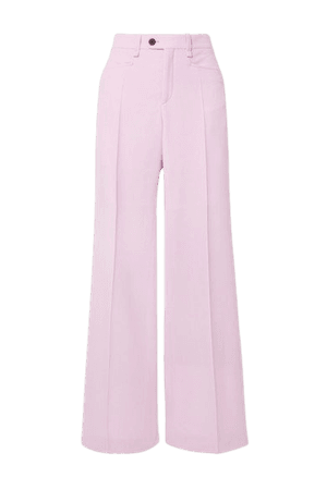 Wool Wide-leg Pants - Lilac