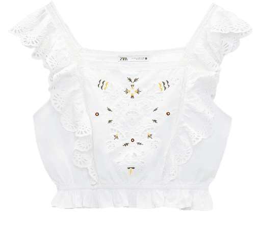 EMBROIDERED BLOUSE | ZARA United States
