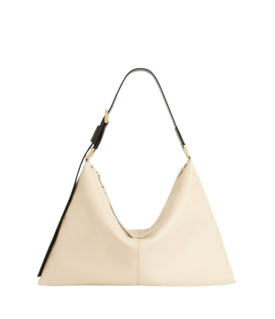 ALLSAINTS US: Womens Edbury Leather Shoulder Bag (parchment_white)