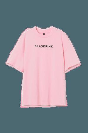 Printed T-shirt - Pink/Blackpink - Ladies   H&M US