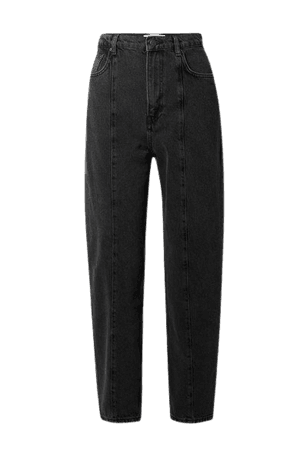 Kris High-rise Slim-leg Jeans - Black