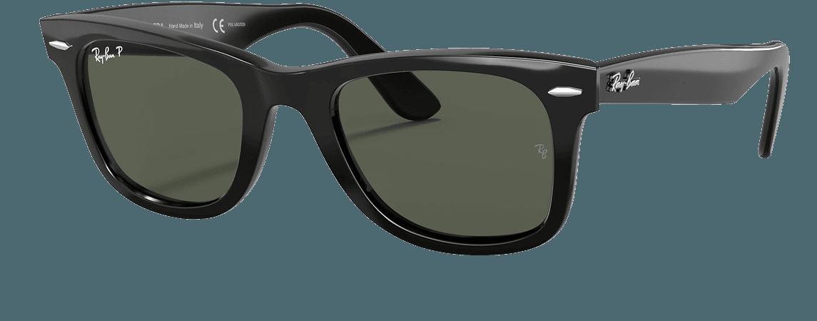 Ray-Ban Original Wayfarer Classic RB2140 Black - Acetate - Green Polarized Lenses - 0RB2140901/5850   Ray-Ban® USA