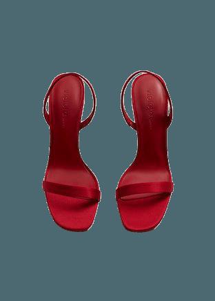 Strappy heeled sandals - Plus sizes | Violeta by Mango Greece