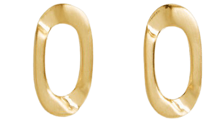 Lexi Gold Brushed Gold Plated Earrings – REISS