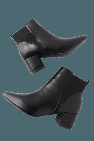 Cute Black Booties - Black Ankle Booties - Vegan Booties - Lulus