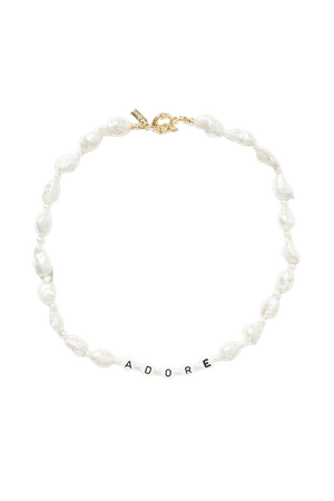 Gold All The Feels gold-plated, pearl and bead necklace | éliou | NET-A-PORTER