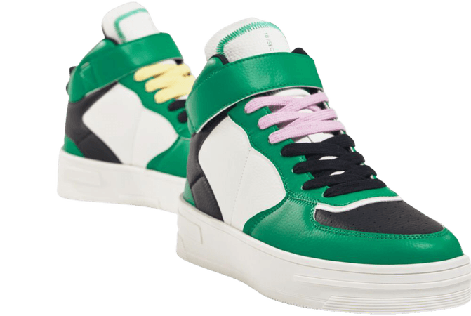 Contrasting high-top sneakers - Shoes - Woman | Bershka