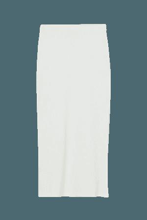 Long Skirt - White - Ladies | H&M US