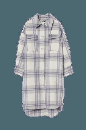 Wool-blend Coat - White