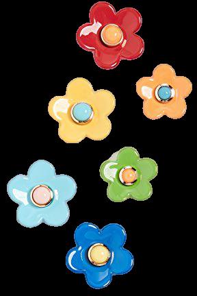 Roxanne Assoulin Flower Power Set of Stud Earrings   SHOPBOP