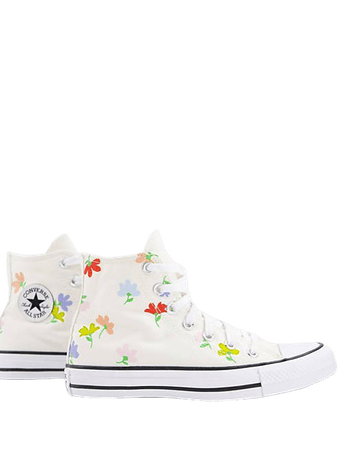 Converse Chuck Taylor All Star Hi Garden Party sneakers in egret | ASOS