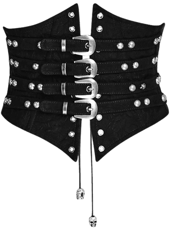 Bestia Corset Belt with Buckles by Punk Rave | Ladies Gothic