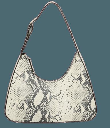 Faux leather bag - Snake skin - Bags - Monki WW