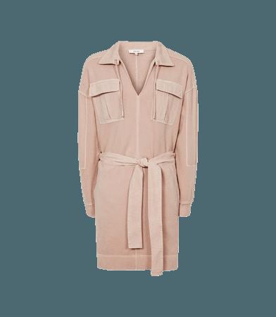 Lila Pink Twin Pocket Jersey Dress – REISS