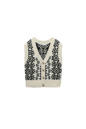 BUTTONED PRINTED VEST | ZARA United States