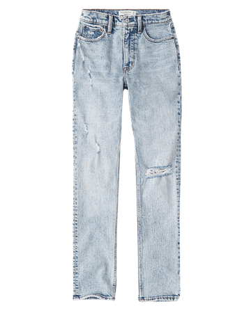 Women's 90s High Rise Skinny Jeans | Women's New Arrivals | Abercrombie.com blue