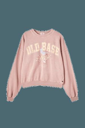 """Faded """"Texas"""" sweatshirt - pull&bear"""