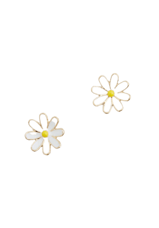 Doting Over Daisies Earrings in White/Yellow   ModCloth