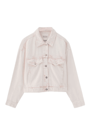 Denim jacket with pink detail and pockets - pull&bear
