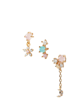 Girls Crew Pink Paradise Post Earring Set | Urban Outfitters