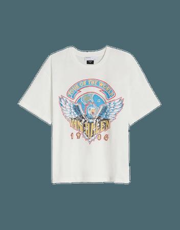 Short sleeve Van Halen T-shirt - Tees and tops - Woman   Bershka