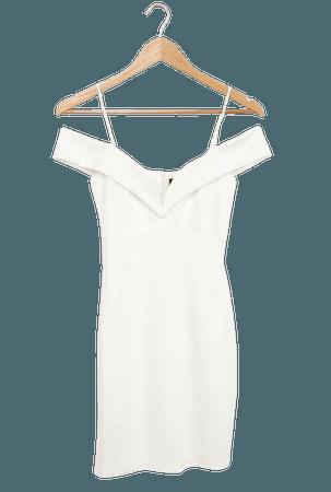 White Dress - Off-the-Shoulder Dress - Bodycon Mini Dress - Lulus