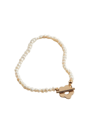 Pearl Flower Toggle Bracelet | Urban Outfitters