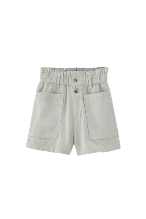Two-button paperbag shorts - pull&bear