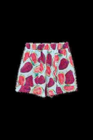 Rustic fabric fruit Bermuda shorts - pull&bear