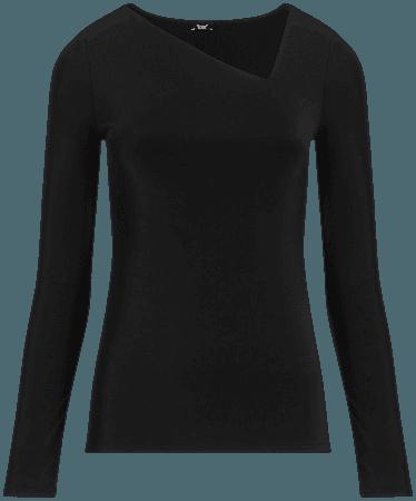 Body Contour Asymmetrical Tee | Express