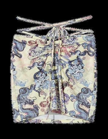 Printed mini skirt - Skirts - Woman | Bershka