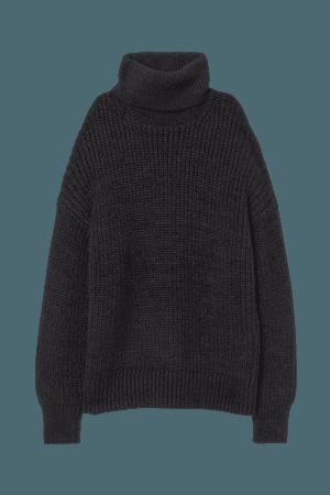 Turtleneck Sweater - Gray-black - Ladies | H&M US