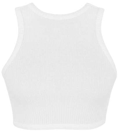 House of CB | 'Road Trip' White Knit Cropped Tank Top