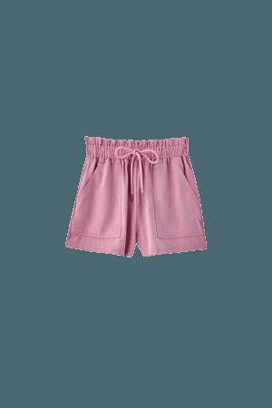 Basic wide-waist Bermuda shorts - Join Life viscose (at least 75%) - pull&bear