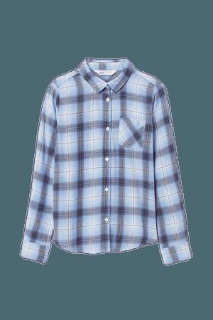 Plaid Shirt - Blue | H&M