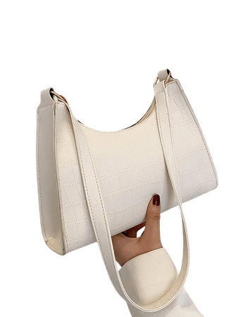Croc Embossed Baguette Bag | SHEIN USA