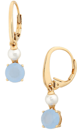 NADRI | Elsa 18K Yellow Gold Plated Stone & Freshwater Pearl Drop Earrings | Nordstrom Rack