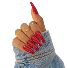 Red coffin nails via Pinterest