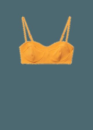 Bandeau bikini top - Women | Mango USA