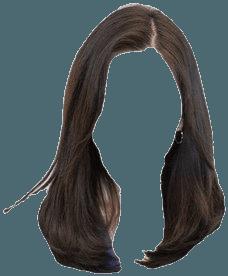 Short Dark Brown Hair PNG