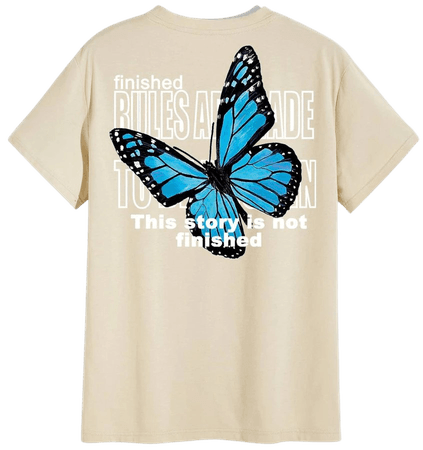 Men Butterfly And Slogan Graphic Tee | SHEIN USA