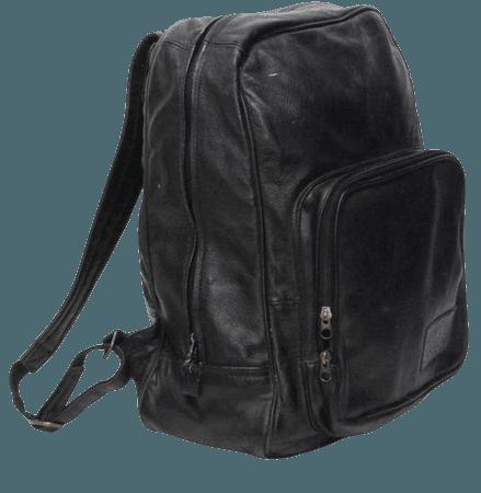 GRUNGE black leather 80s 90s BACKPACK goth mini UNISEX knapsack