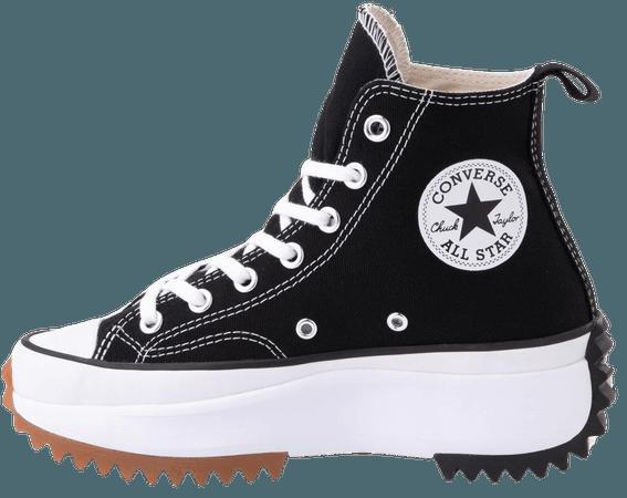 Converse Run Star Hike Platform Sneaker - Black / White / Gum | Journeys