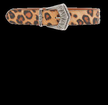 Leopard-Print Leather Belt By Etro | Moda Operandi