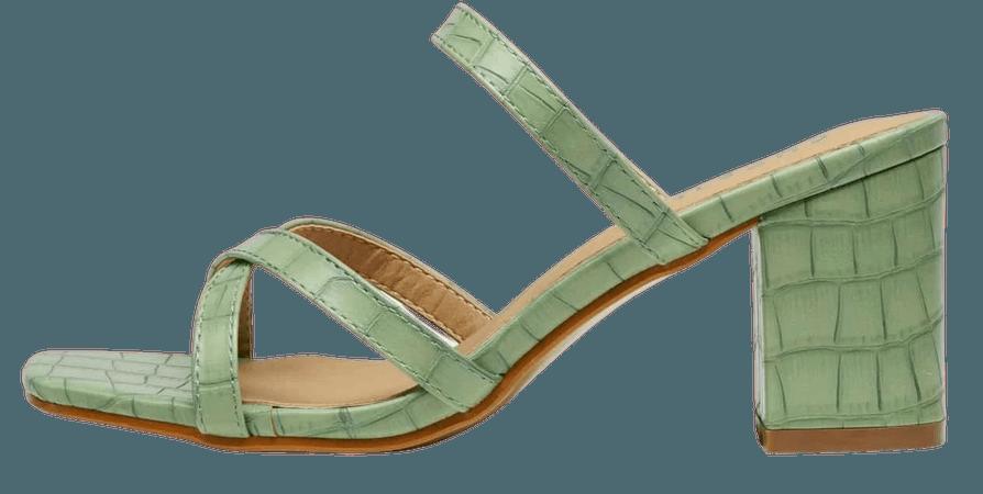 Criss Cross Chunky Heeled Mules | SHEIN USA