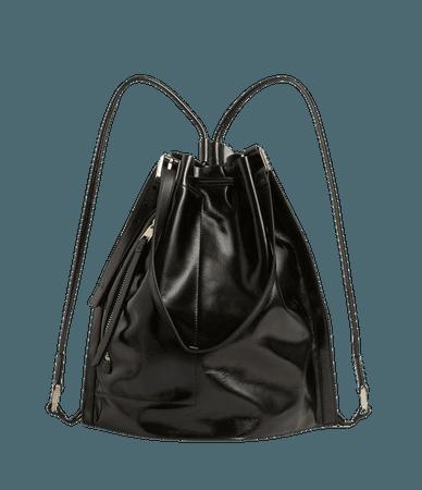 ALLSAINTS US: Womens Alpha Leather Backpack (liquid_black)