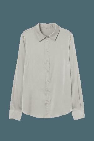 Long-sleeved Blouse - Brown